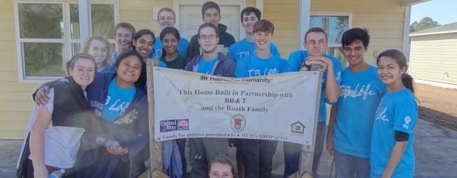 Nease IB Seniors Build Homes for Habitat for Humanity
