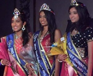 Miss Teen India-USA - Aanchal Shah (pictured center)