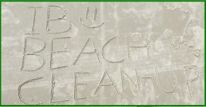 Pic of Beach with Writing - IB Beach Clean-Up - For IB Website